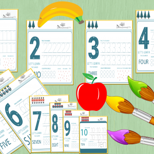 10 printable numbers tracing and counting